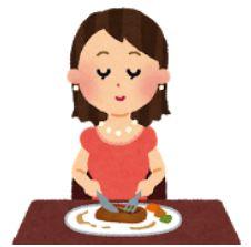 友人とご飯を食べる