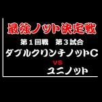 最強ノット決定戦 1回戦第3試合 ダブルクリンチノットC vs ユニノット