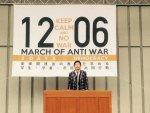 【旗頭】石田純一がシールズの「1206銀座大行進」でスピーチ!「世界一安全な国をなぜ変える必要があるのか?子ども、孫のため、世界一平和で安全な国でありたい」