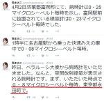【贖罪?】自民・森まさこ議員が「永田町は0.8μSv/h」のツイート!本当なら「年間≒4mSv」で永田町は即時避難レベル!