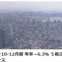 【アベノミクス】日本のGDP2019年(10-12月期 )年率▲6.3%、GDPマイナスなんて国は他にあるの?