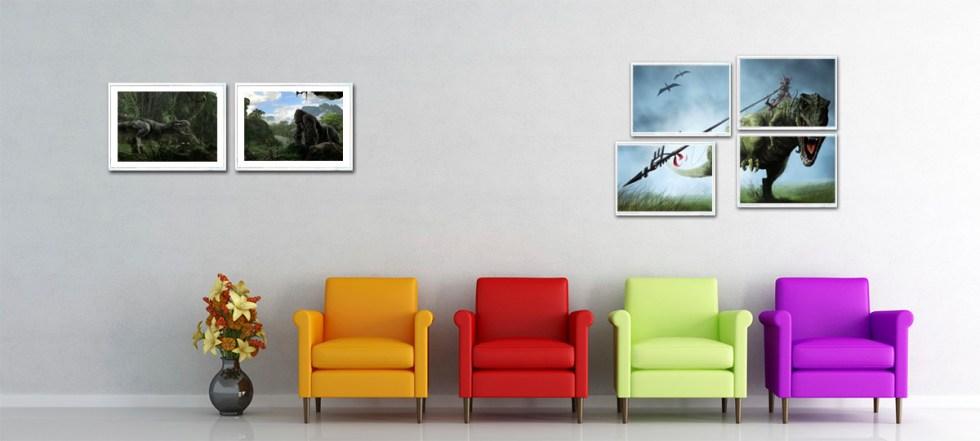 afiches de dinosaurios