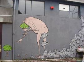 graffiti de NemOs, en milan, italia