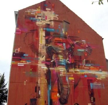 graffiti de steve locatelli en bruselas, bélgica