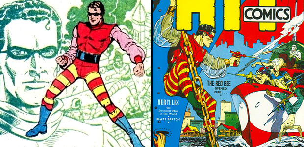 superheroe-abeja-roja-escuadron-estrella