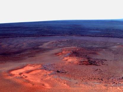 25 de enero de 2012 paisaje marciano compuesto por un mosaico de imágenes más pequeñas