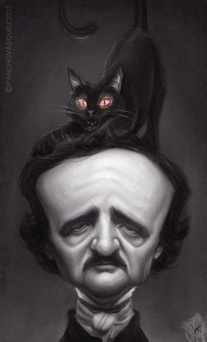 caricatura-edgar-allan-poe-gato-negro-vasquez