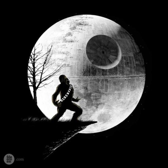 hombre-lobo-chewbacca-estrella-muerte-star-wars