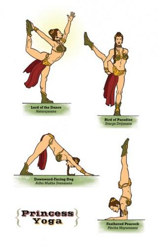 princesa-leia-yoga-star-wars