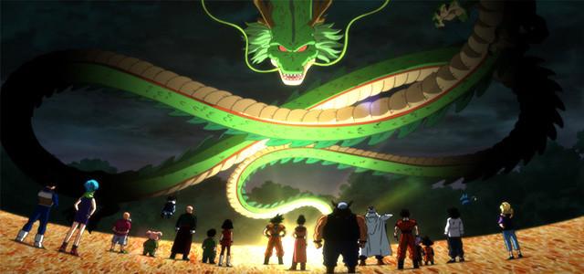 personajes de Dragon Ball invocan a Shenlong