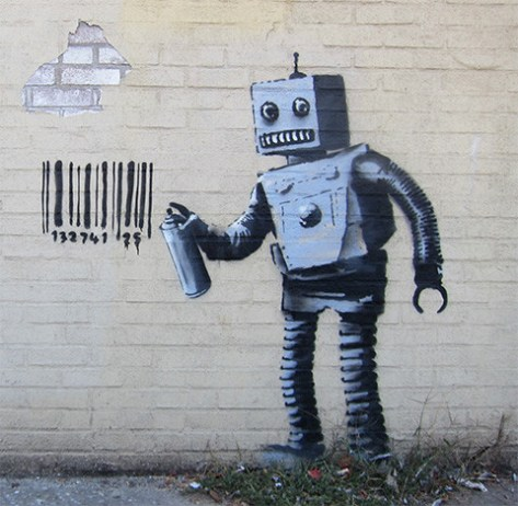 banksy-grafiti-robot-grafiti-codigo-barras