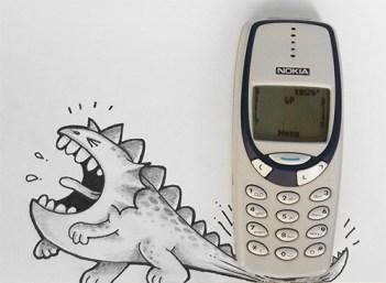 caricatura-dinosaurio-celular-real-manik-n-ratan