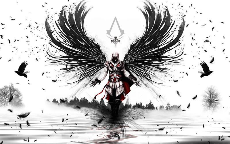 assassin-s-creed-cuervo-plumas-negras-ñoño