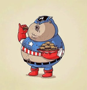 capitan-america-gordo-come-hamburguesa
