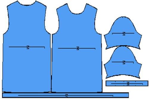 Πατρόν μπλούζα ανδρική κοντό μανίκι M