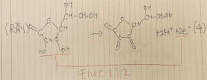 ビタミンC 半反応式