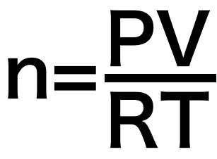 n=PV:RT