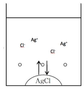 塩化銀の溶解平衡