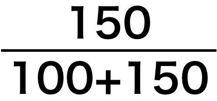 溶質の割合