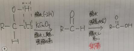 第1級アルコール 酸化