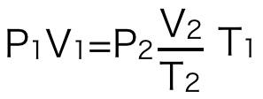 ボイルシャルルの法則の式変形