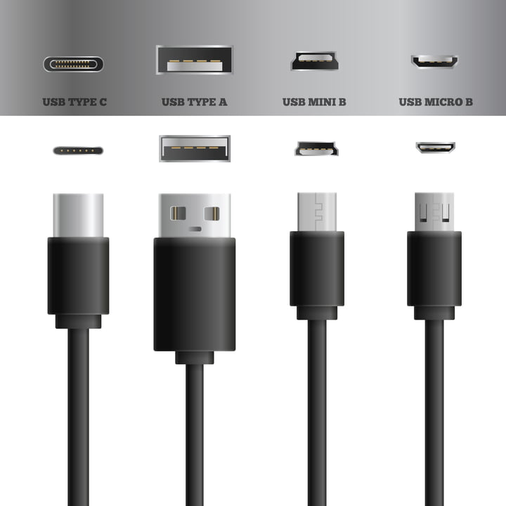 USB TYPE A  USB MICRO