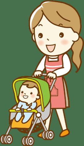 産後の骨盤矯正にベビーカーの乗り入れOKです。安心して、お子様とお越しください。