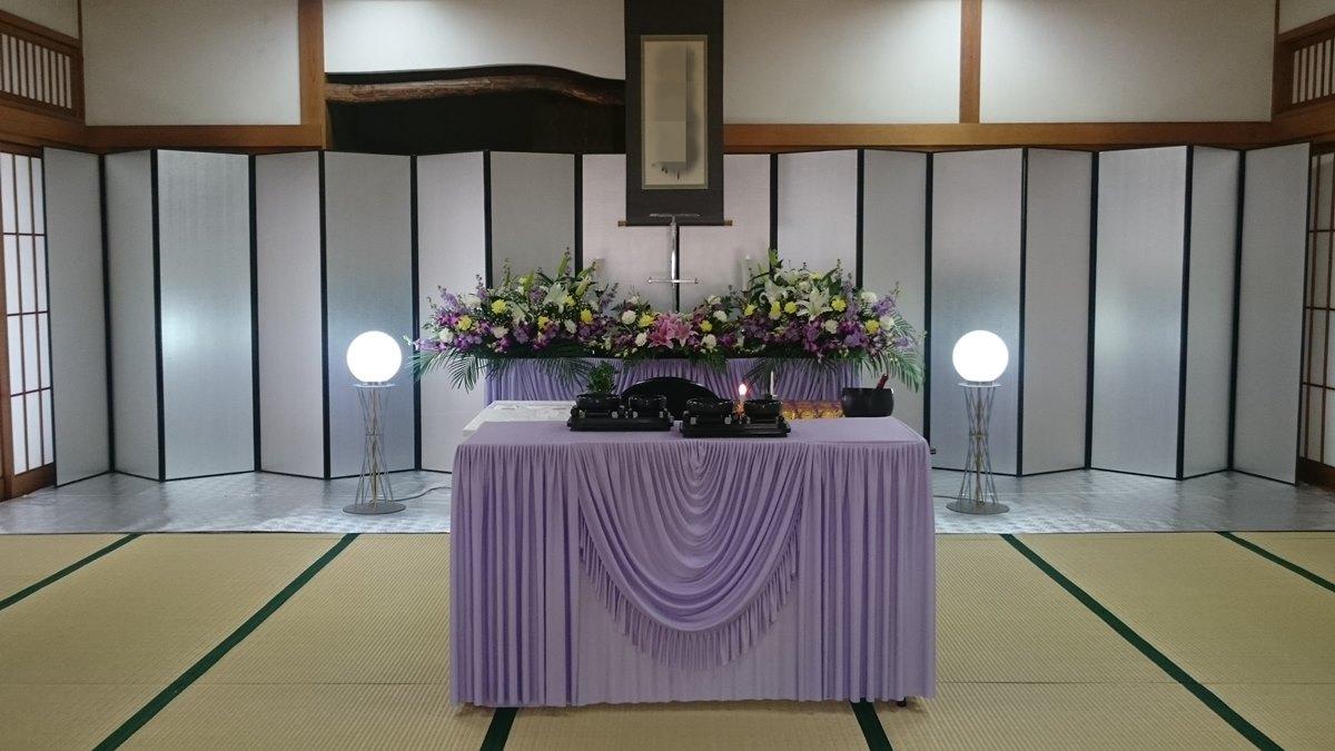 瓜破斎場 葬儀例3_1
