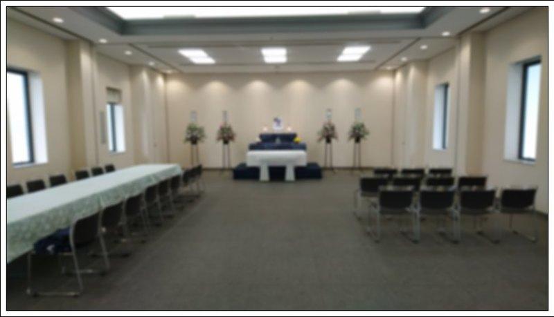 瓜破斎場 直葬 祭壇2