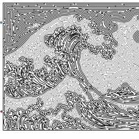 神奈川沖浪裏の迷路