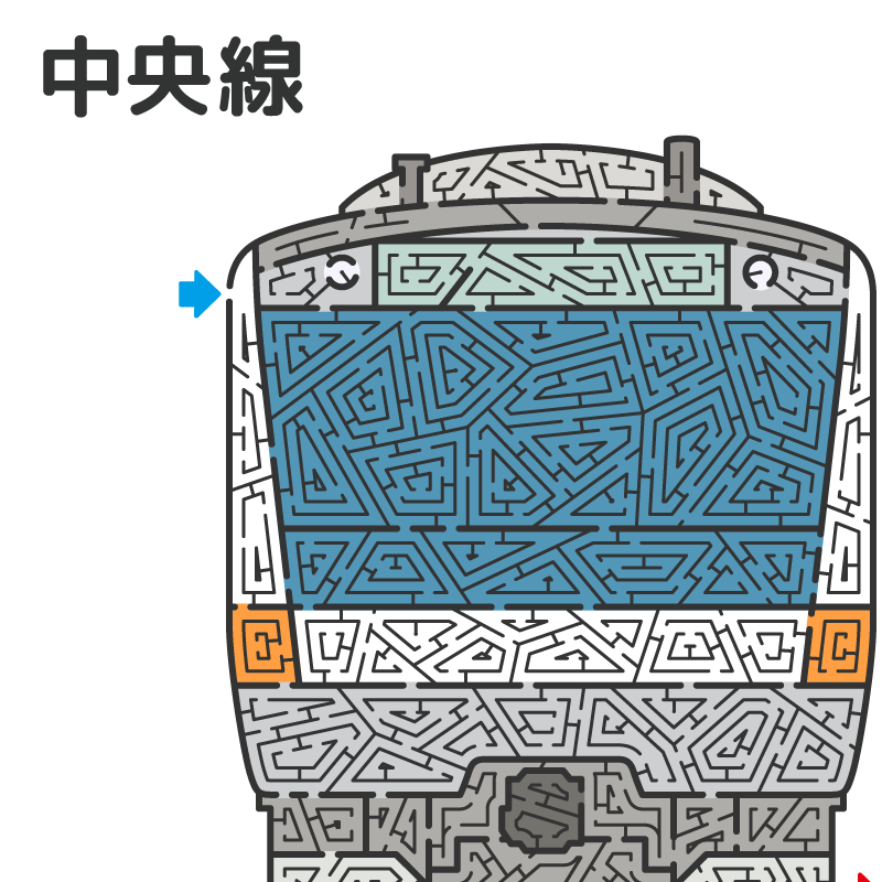 JR東日本 中央線 E233系の迷路 アイキャッチ