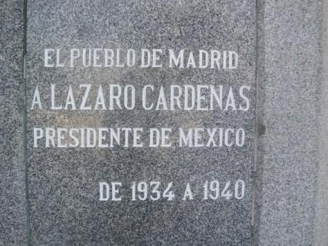Parque Norte. Monumento a Lázaro Cárdenas