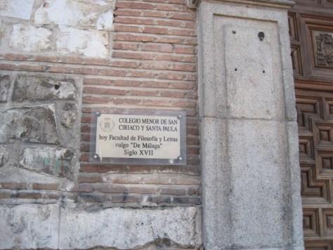 Colegio de Málaga, Alcalá de Henares, calle de Los Colegios