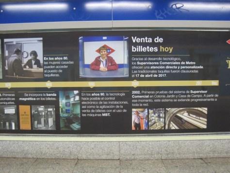 Metro de Madrid y las taquilleras