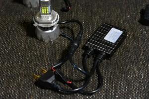 LEDヘッドライト接続図