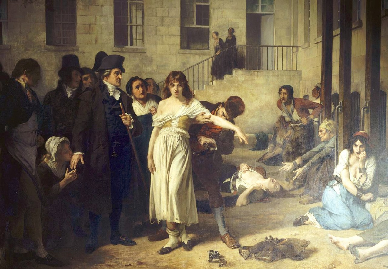 "Im 18.Jahrhundert gb es sie noch: ""Irrenanstalten"". Tony Robert-Fleury [Public domain], via Wikimedia Commons"
