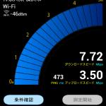 BIGLOBE SIMのスピード測定結果