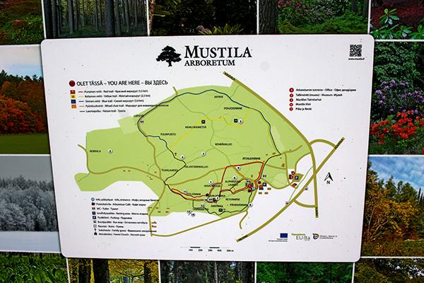 Arboretumet sträcker sig över en area på 120 ha.