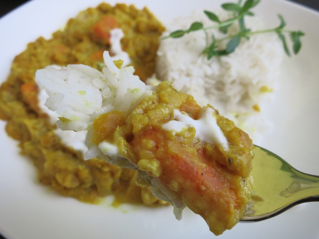 Linsen Süßkartoffel Curry