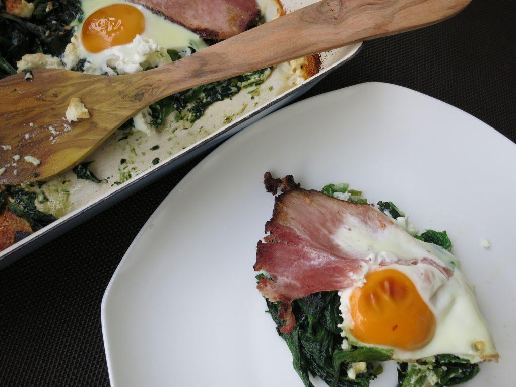 Backofen Spinat mit Ei