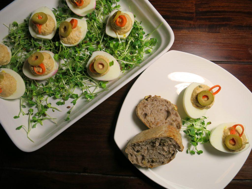 gefüllte Eier mit Thunfischcreme