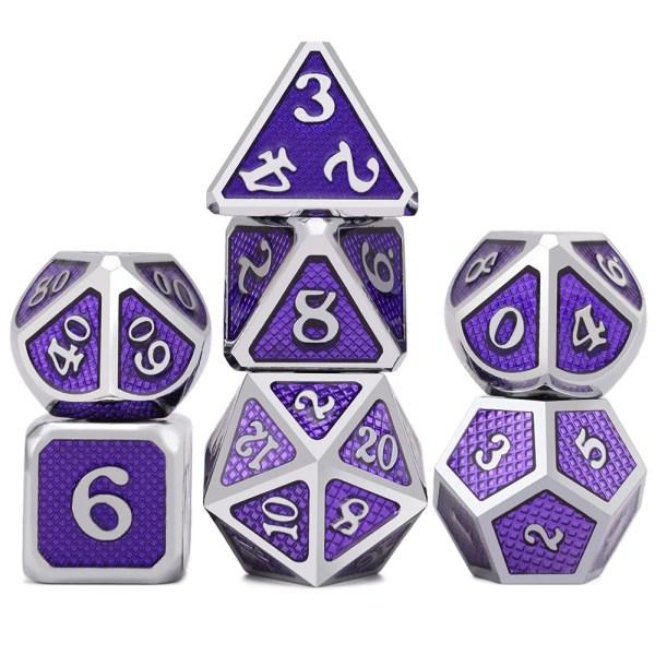 Metal Dice – Dragon Hide – Dark Purple