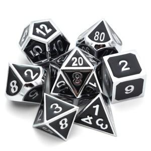 Metal Dice Set - Chaos Black