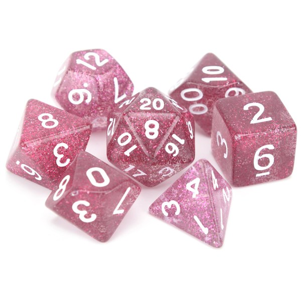 Glitter Dice - Dark Pink