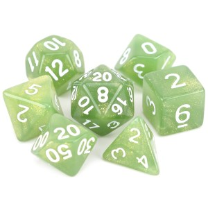 Glitter Dice - Olive Green