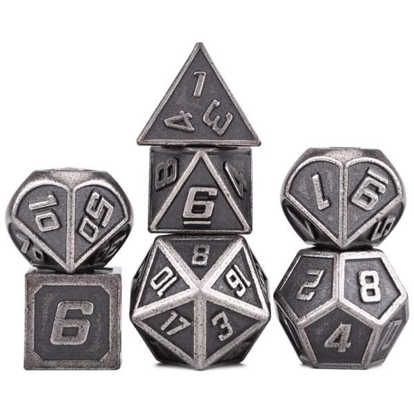 Metal Dice - Futuristic Silver