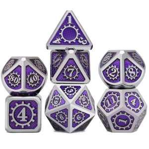 Metal Dice - Steampunk Purple