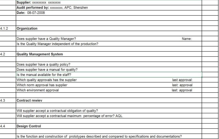 ISO 9001 Kvalitets Audit 1
