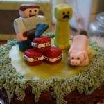 Minecraft tårta!