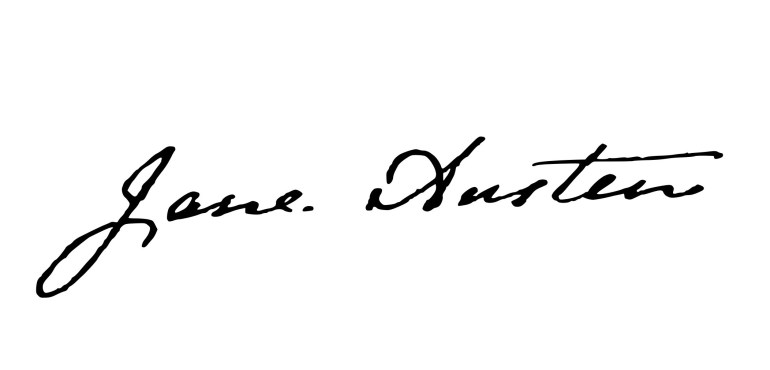 Firma de la escritora Jane Austen